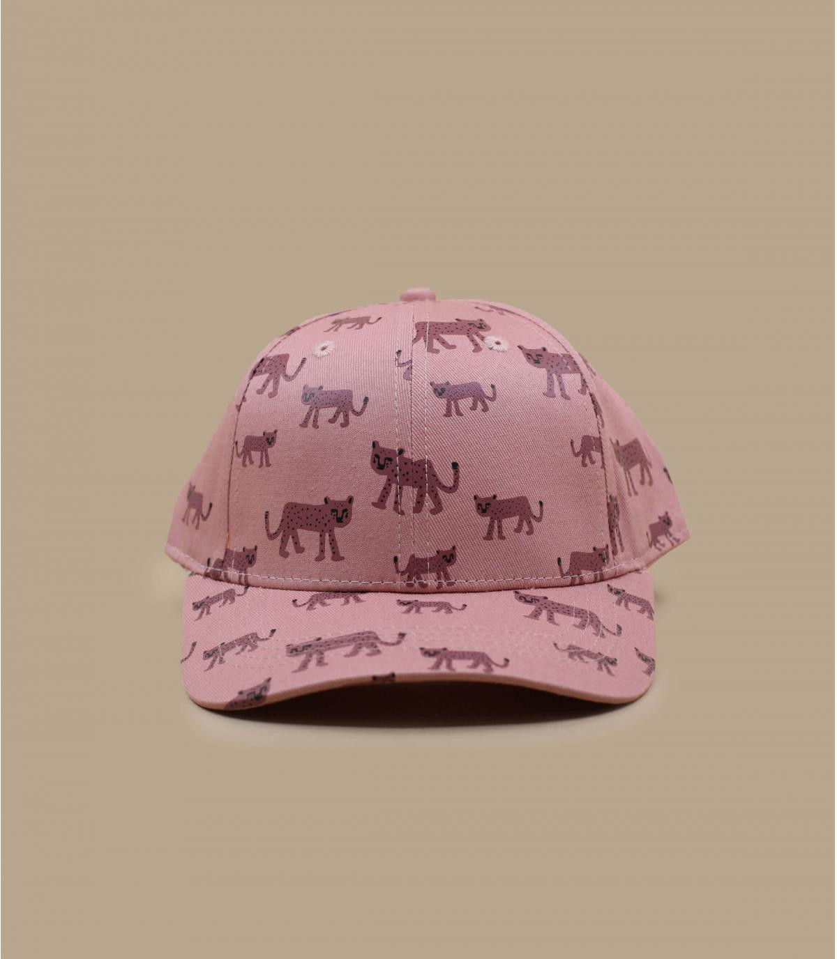 roze luipaard baby muts