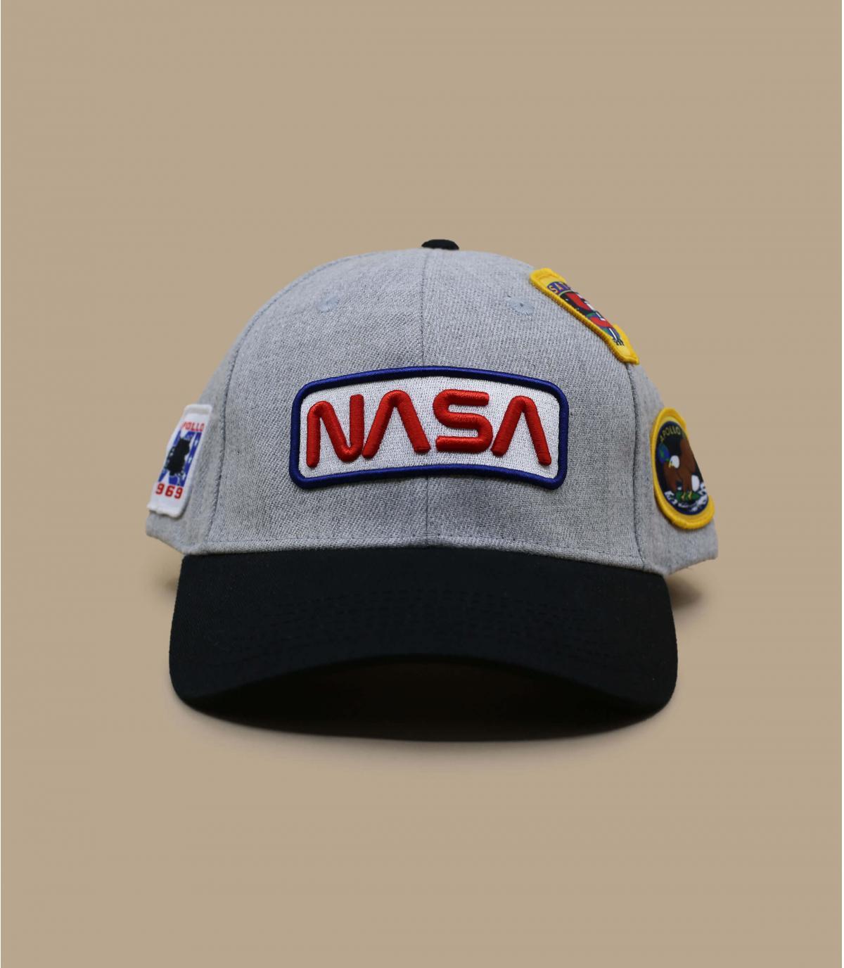 zwart grijze NASA cap