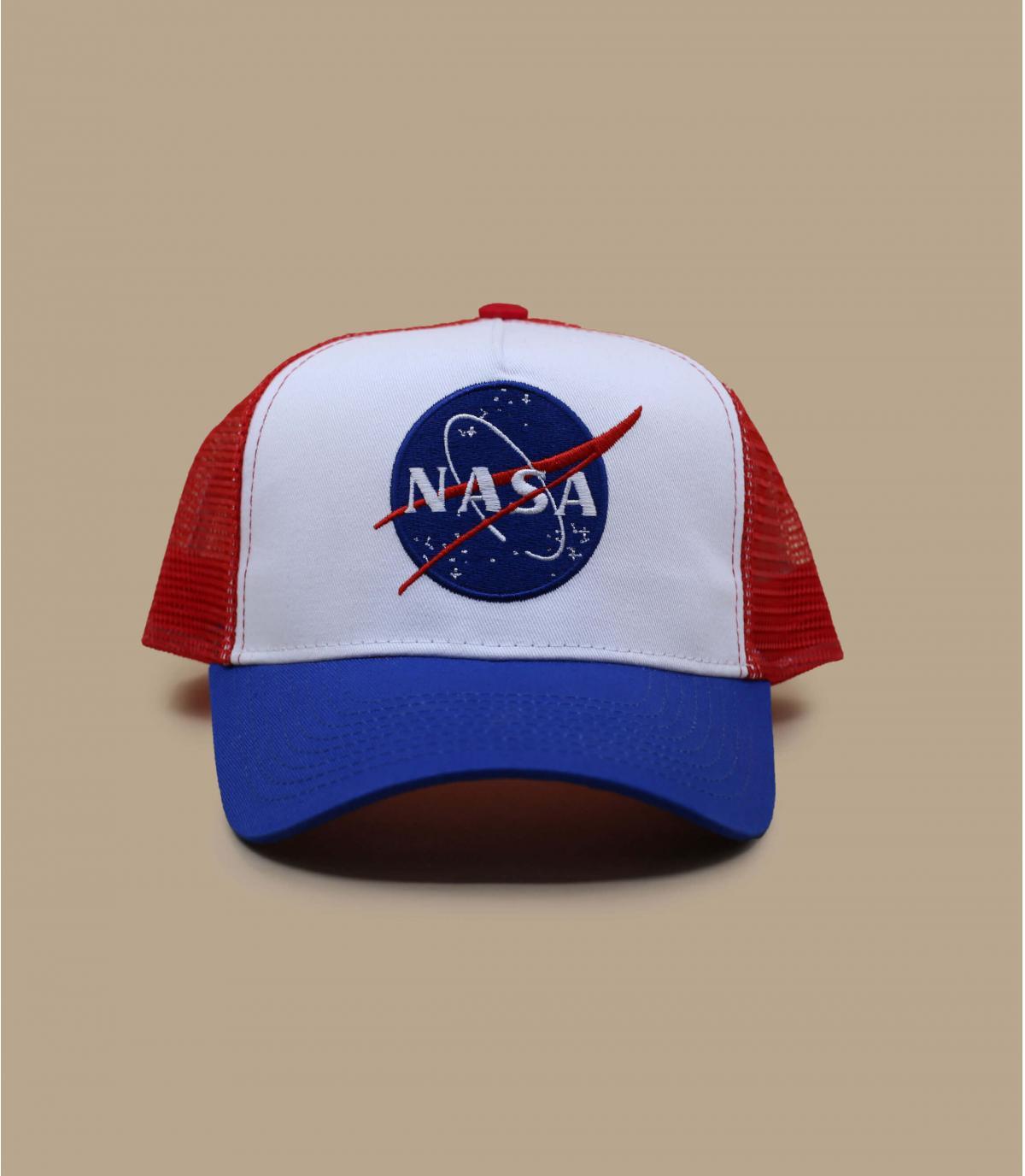 trucker NASA blauw wit rood