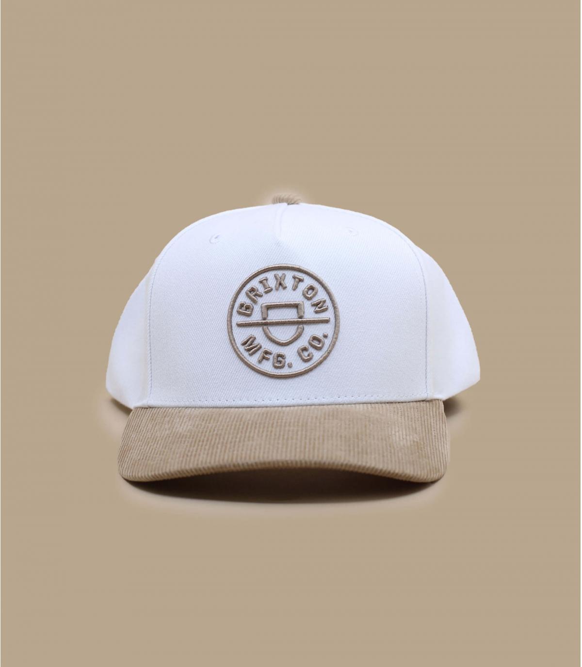 witte beige Brixton cap