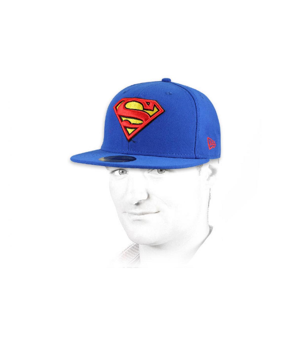 Details Cap Superman black - afbeeling 4