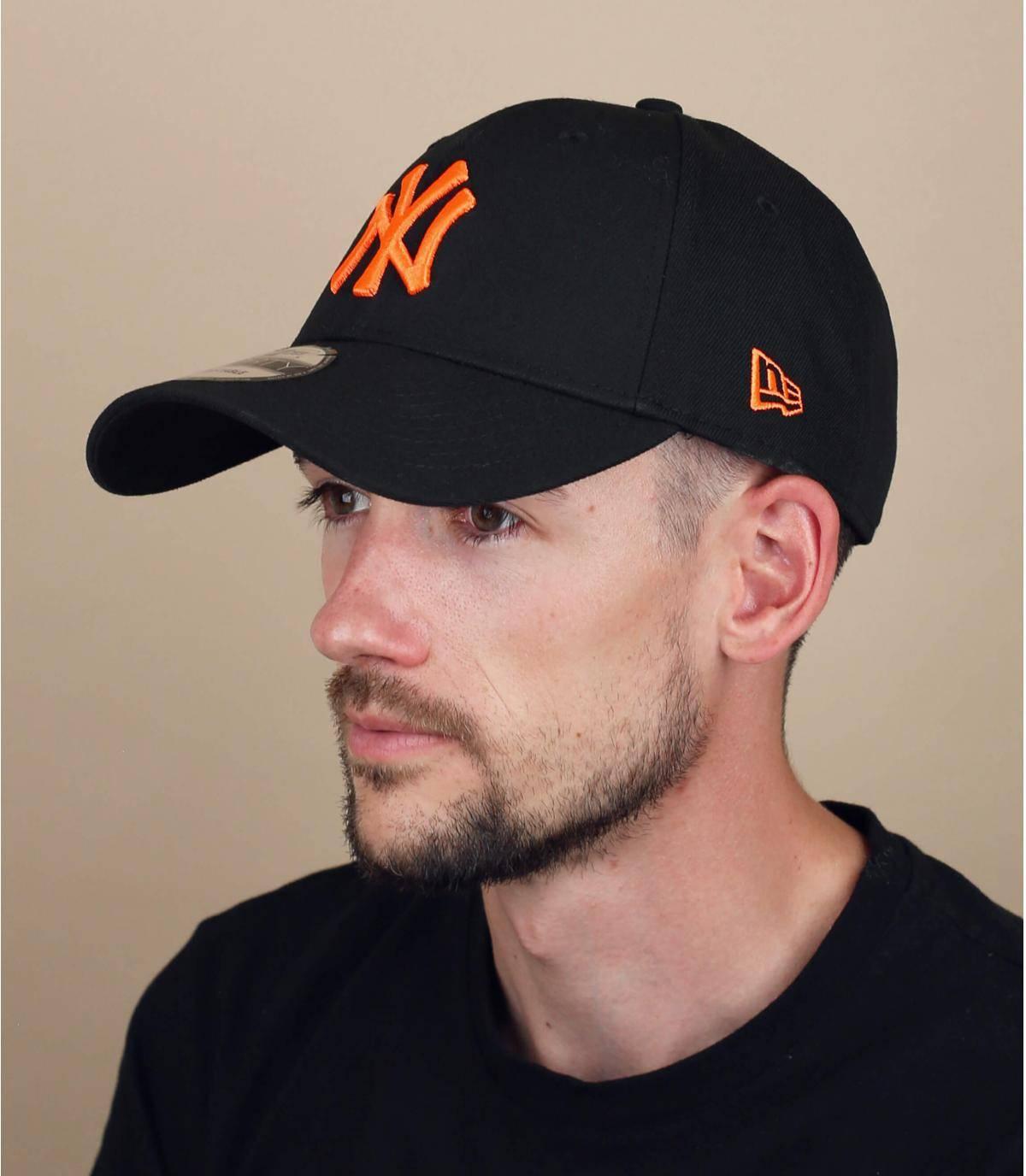 zwart oranje NY cap