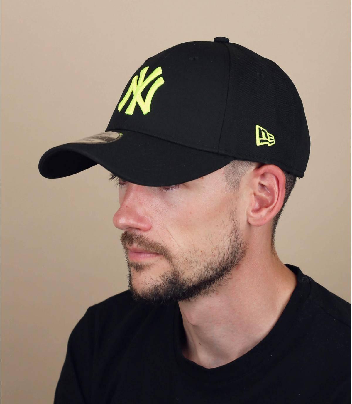 zwart gele NY cap