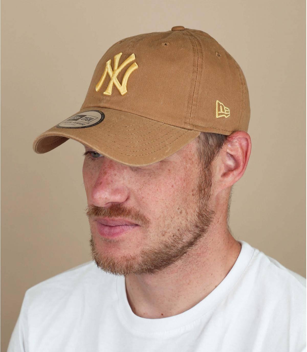 beige NY cap