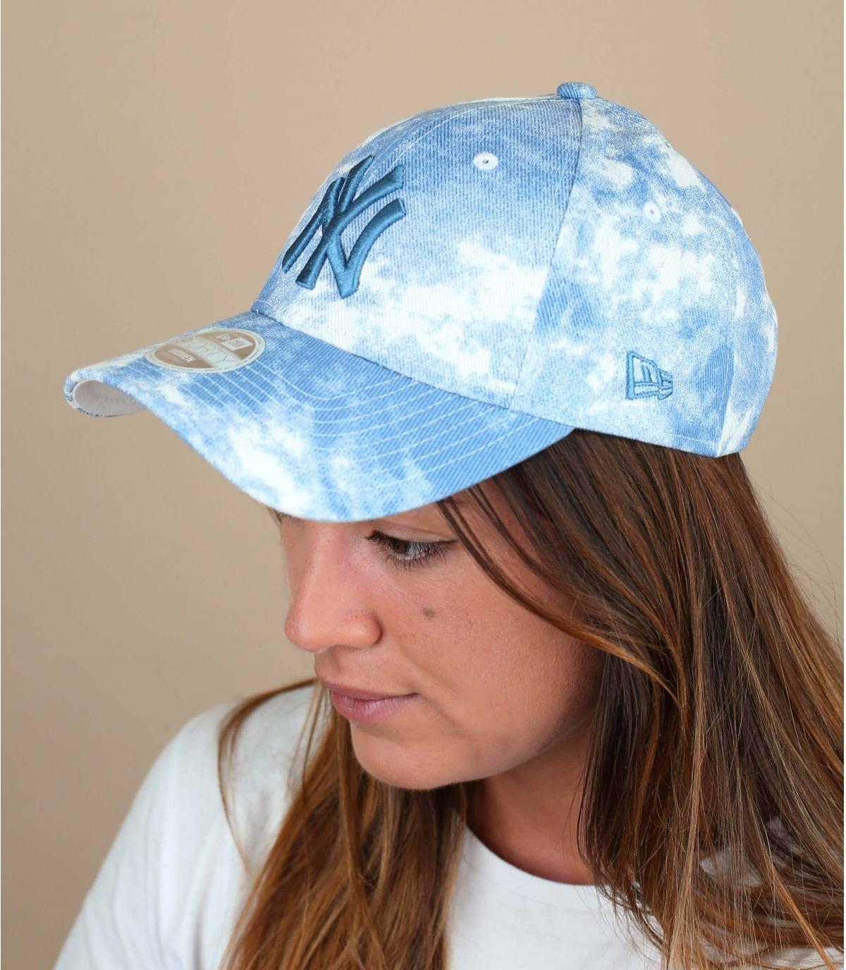 blauwe LA damespet