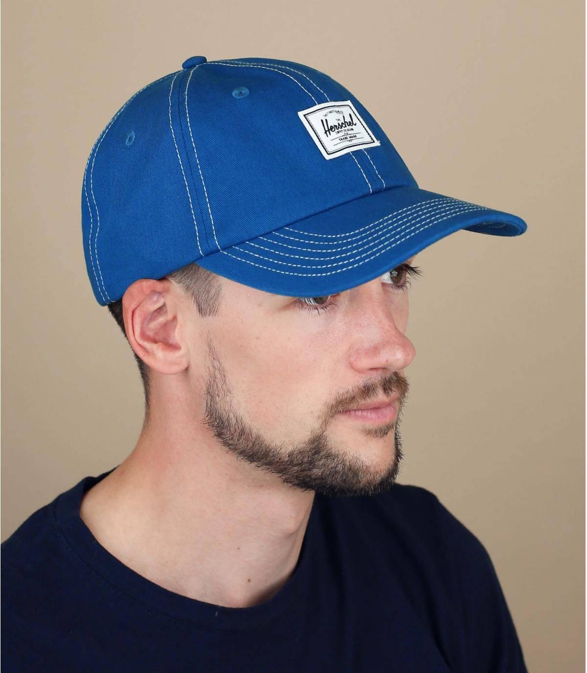 blauwe Herschel cap
