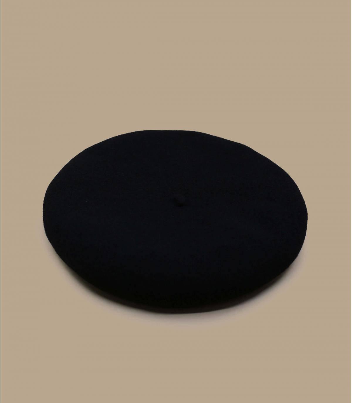 baret van zwarte wol