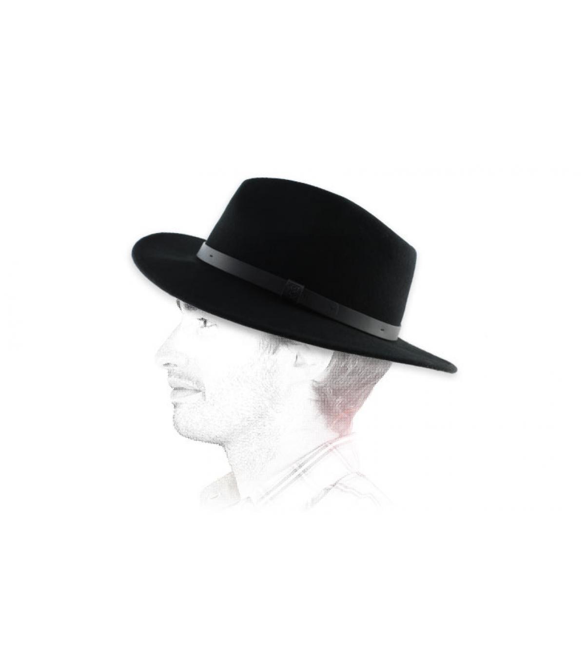 zwarte heren fedora hoed