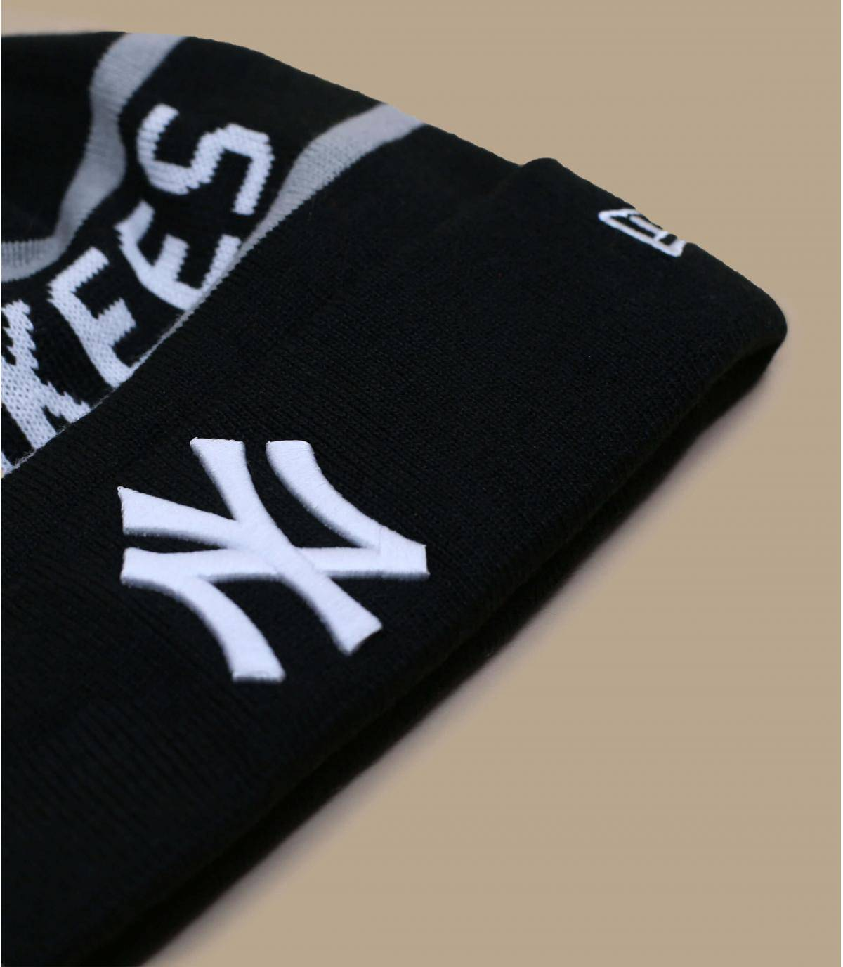 Details Jake Cuff Knit NY black - afbeeling 3