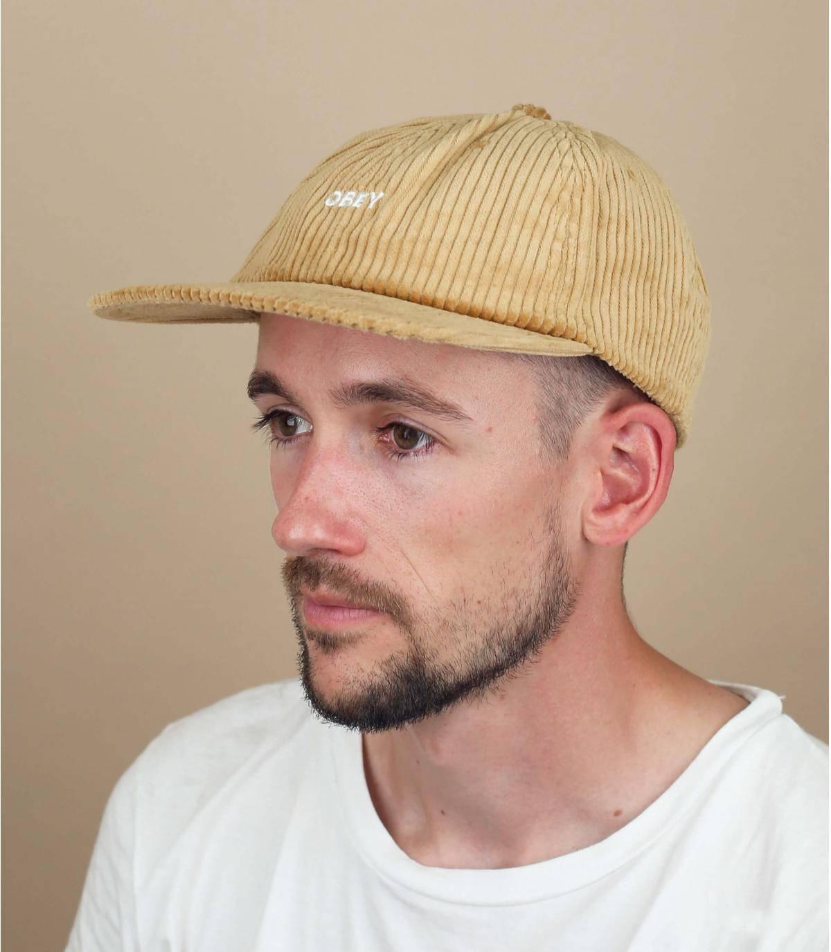 fluwelen Obey cap
