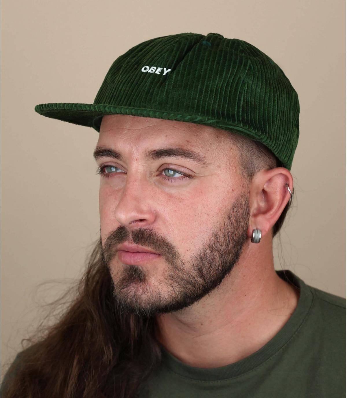 groene fluwelen Obey cap