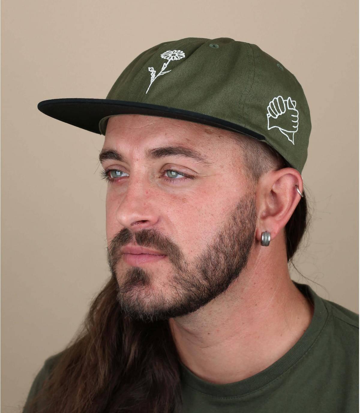 groene Obey cap