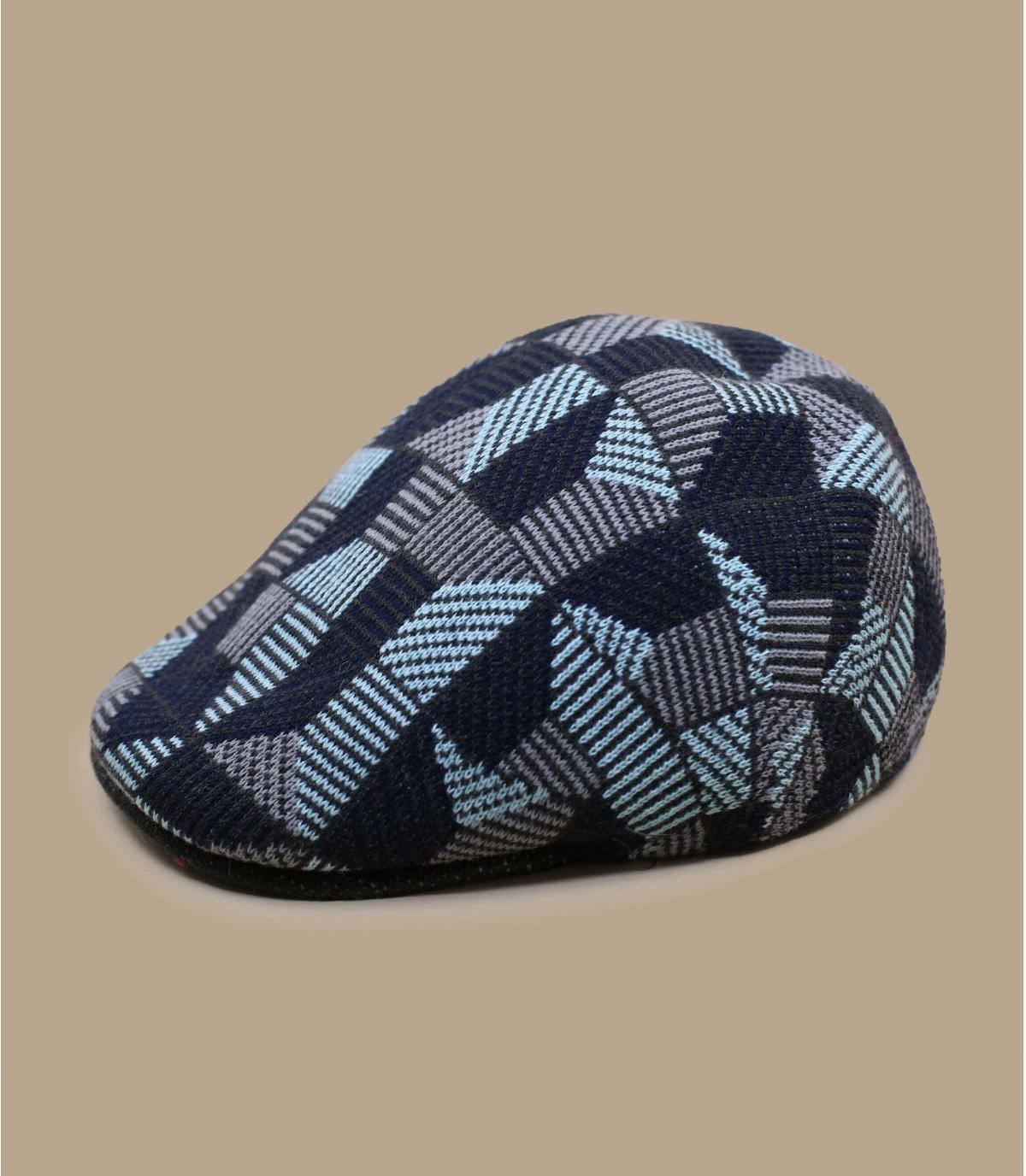 Kangol baret blauw bedrukt