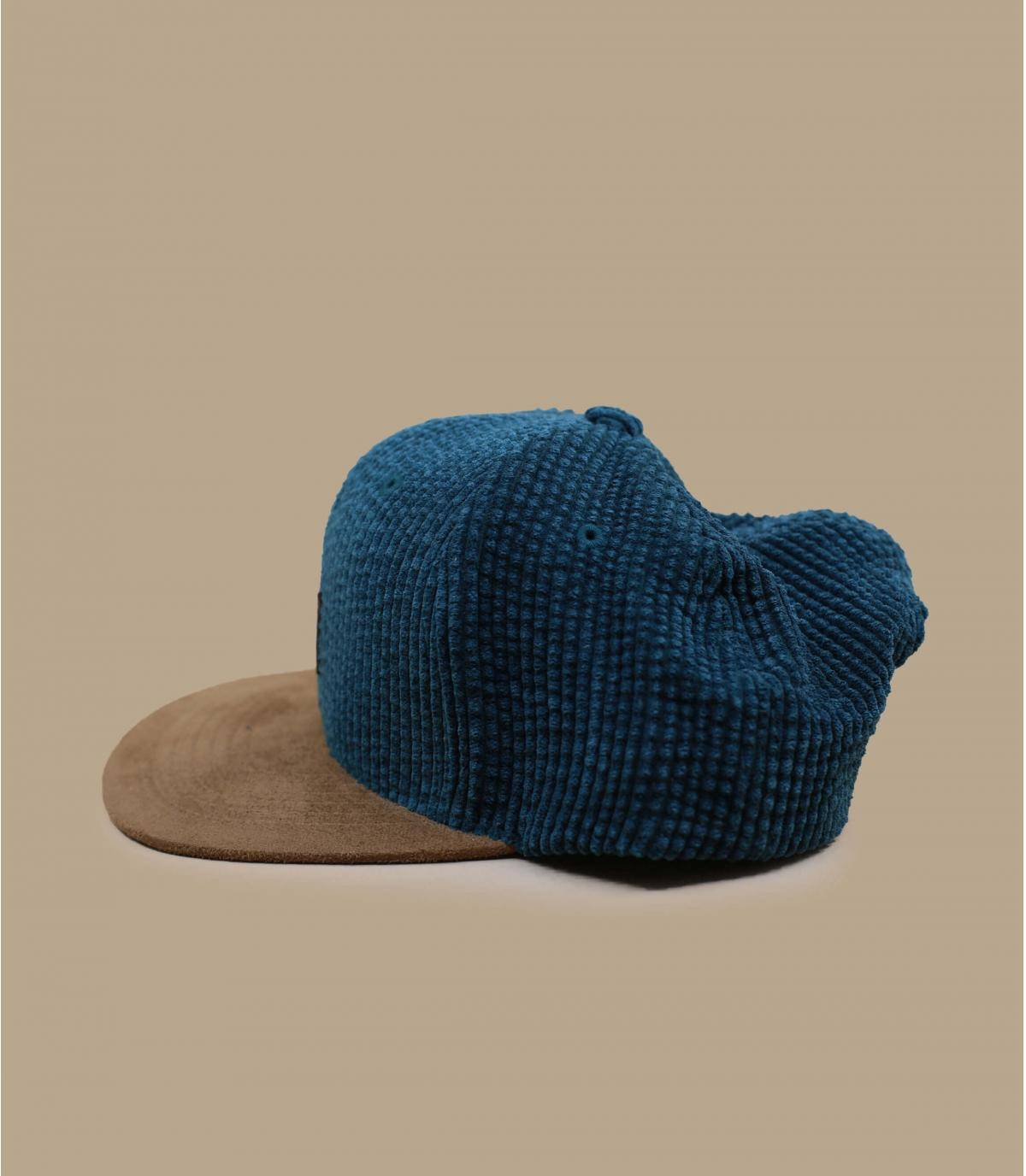 Details Suede Cap Cord forest green - afbeeling 3