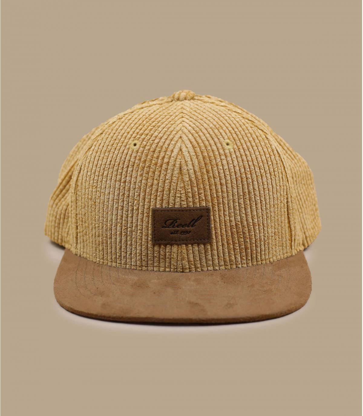 beige fluwelen cap