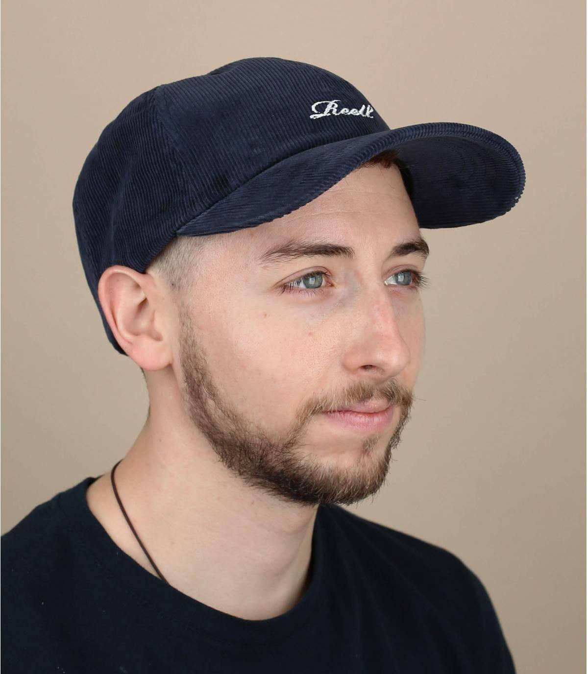 blauwe fluwelen Reell cap