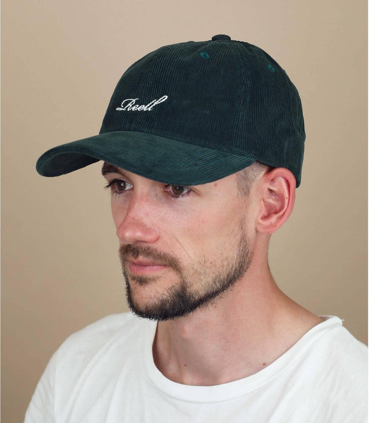 Groene fluwelen Reell cap