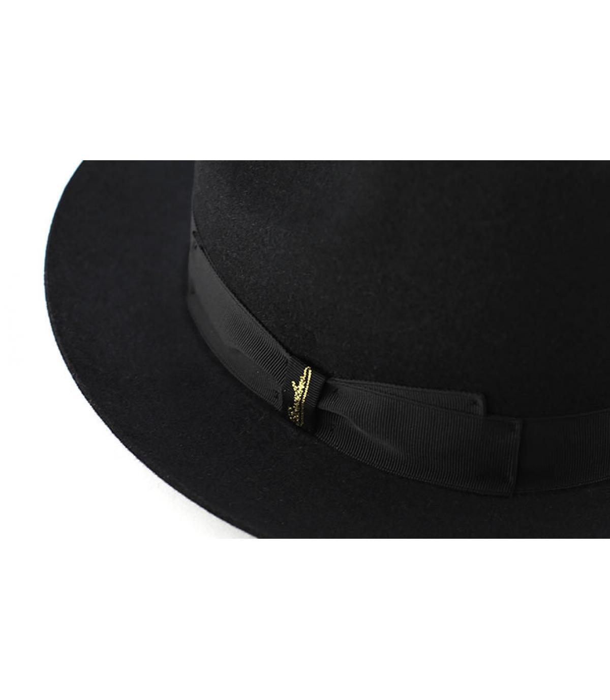 Details Marengo black fur felt hat - afbeeling 2