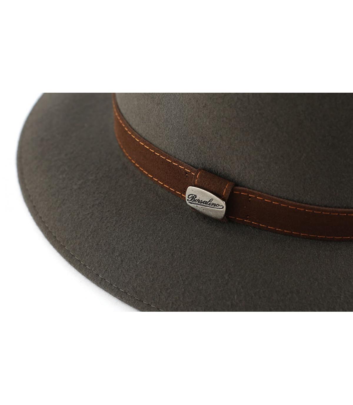 Details Alessandria grey fur felt hat - afbeeling 2