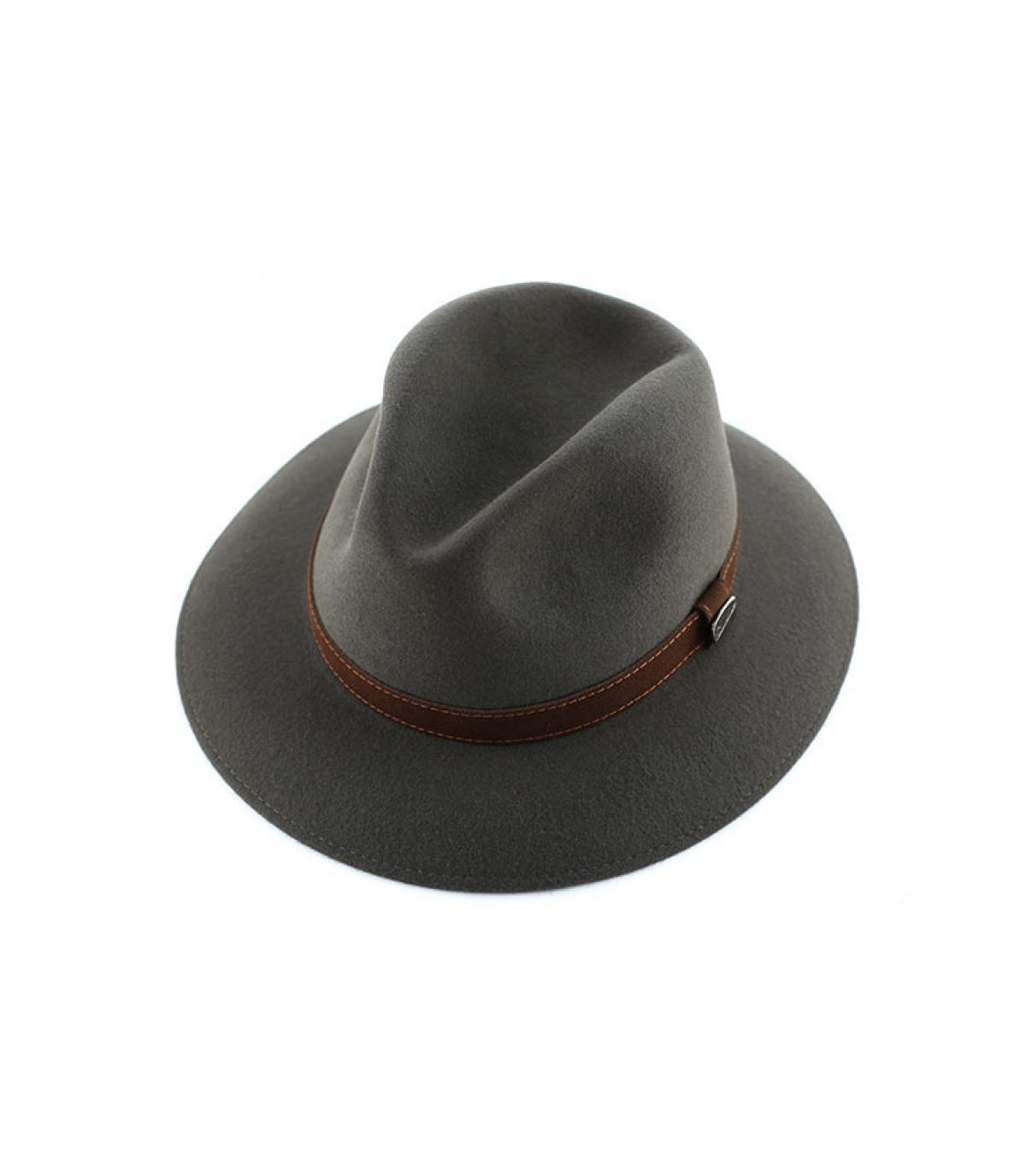 Details Alessandria grey fur felt hat - afbeeling 3