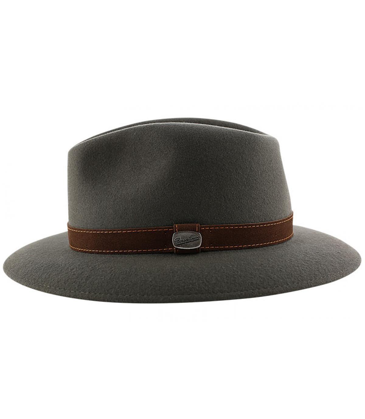 Details Alessandria grey fur felt hat - afbeeling 4