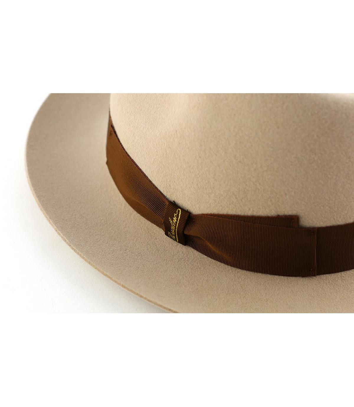 Beige fur felt hat