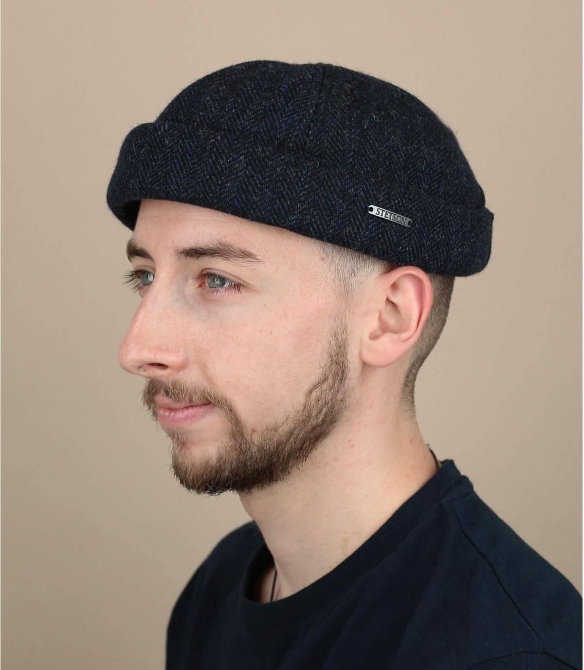 docker hoed blauw