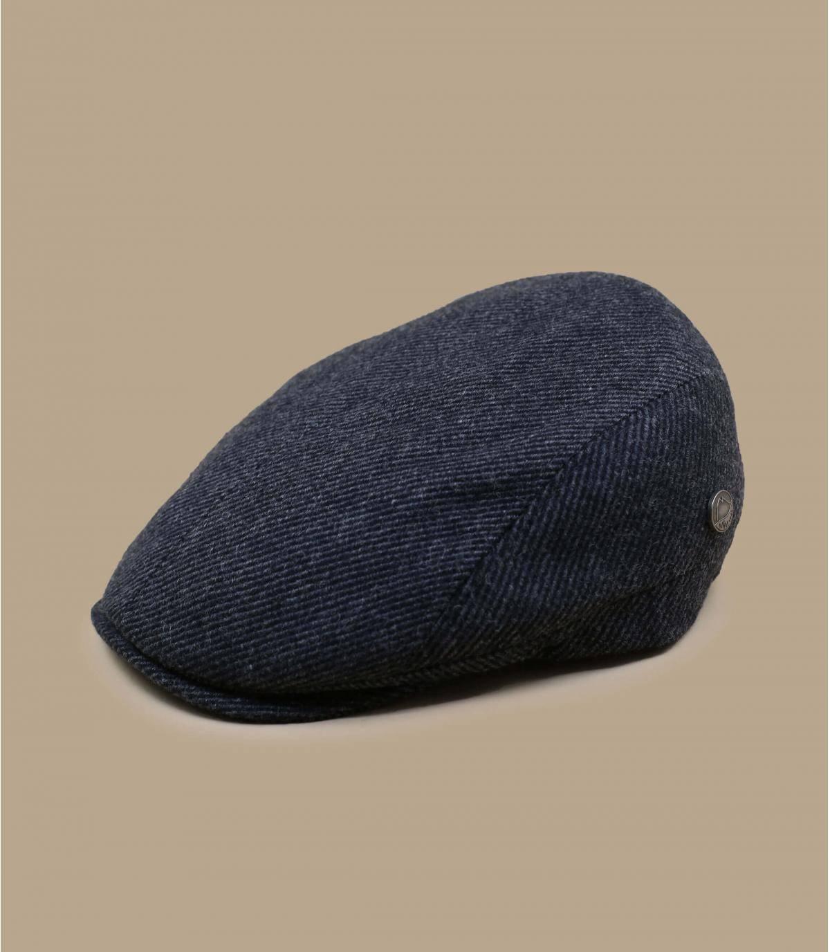 baret van grijze gerecycleerde wol