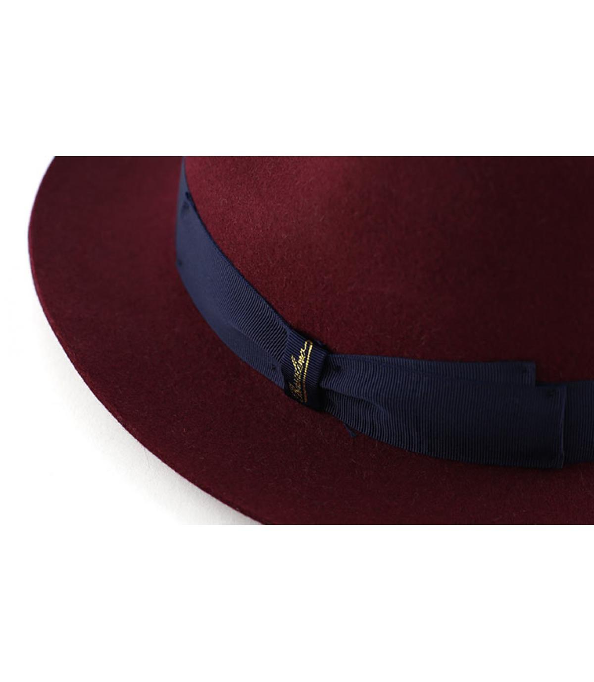 Details Burgundy fur felt hat - afbeeling 2
