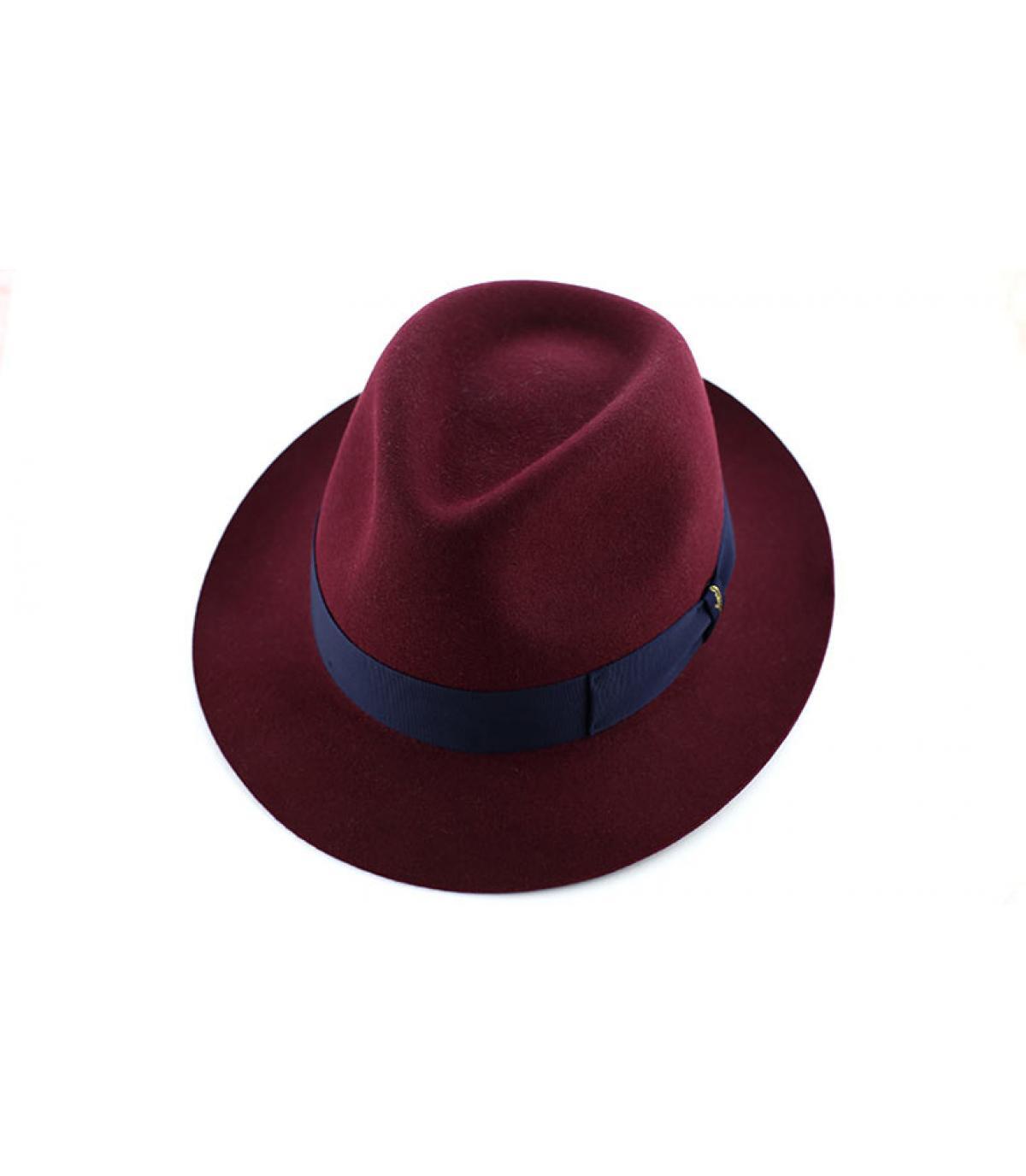 Details Burgundy fur felt hat - afbeeling 3