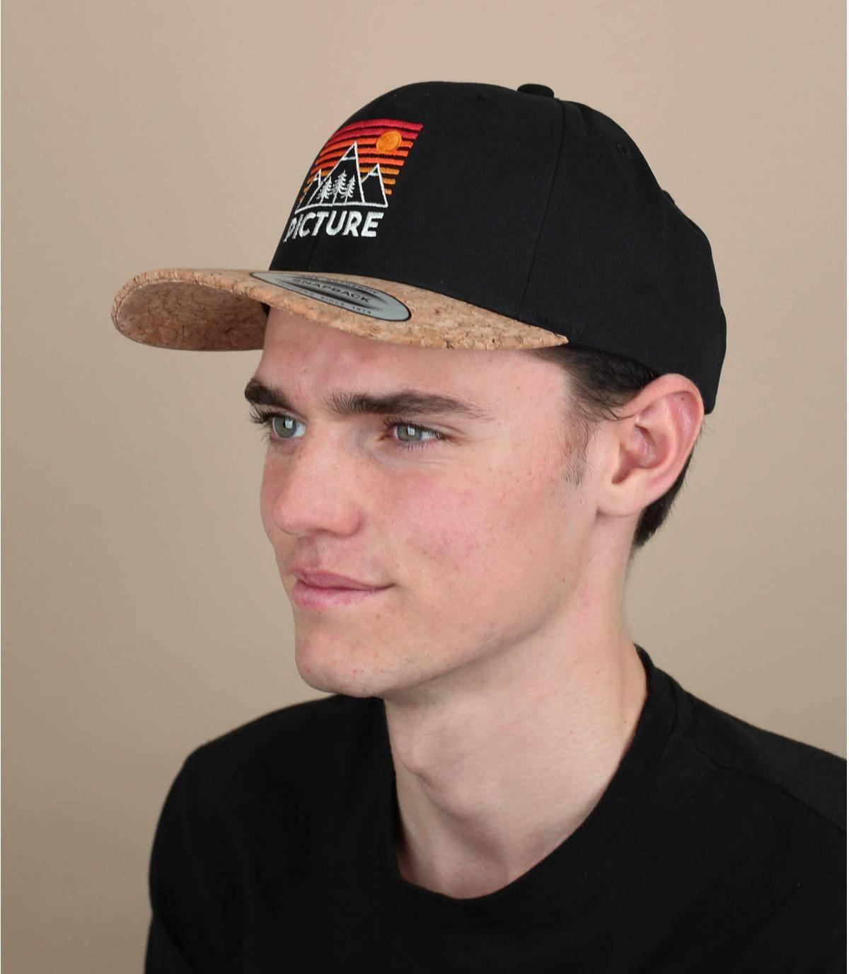 zwarte Picture cap