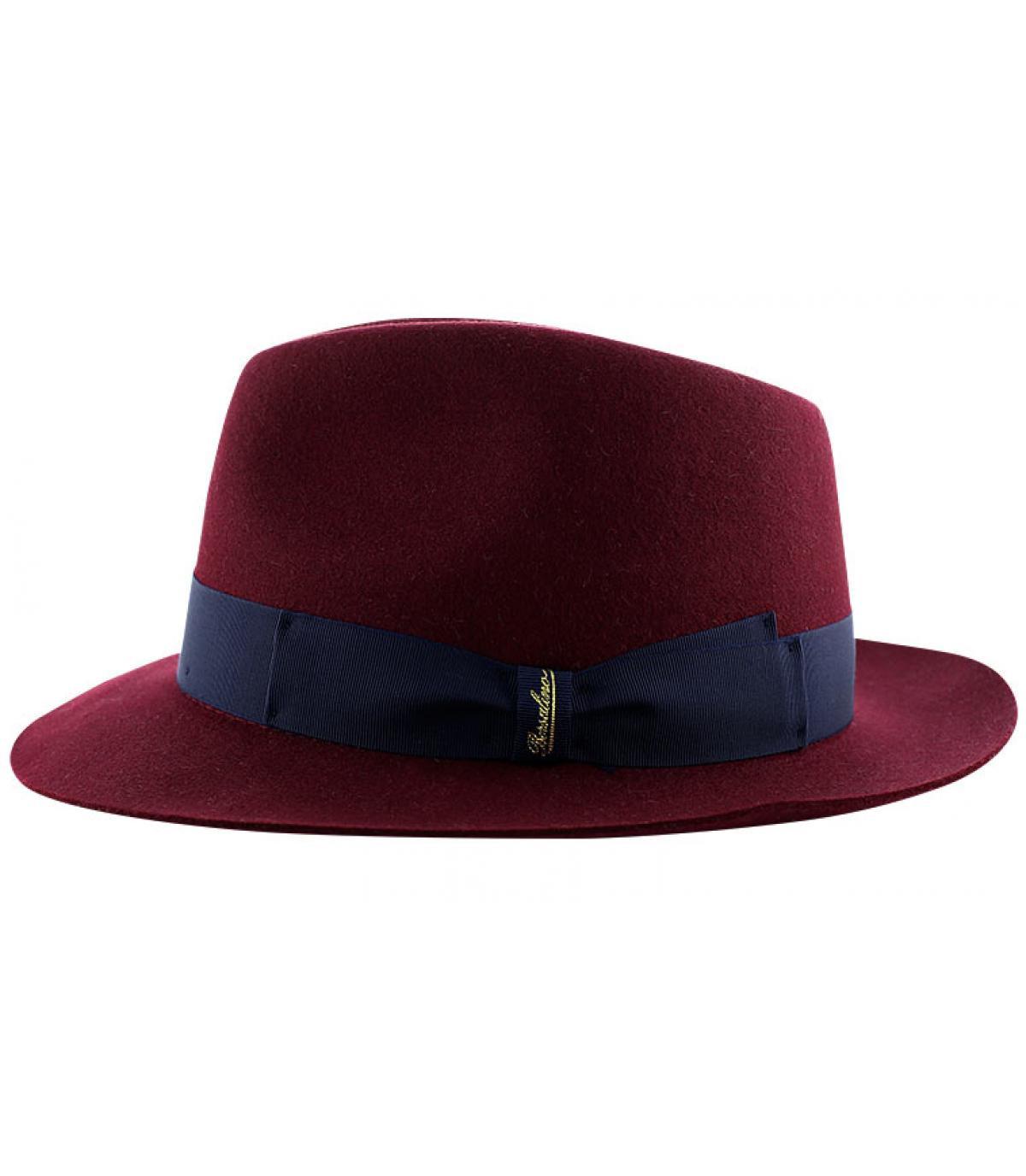 Details Burgundy fur felt hat - afbeeling 4