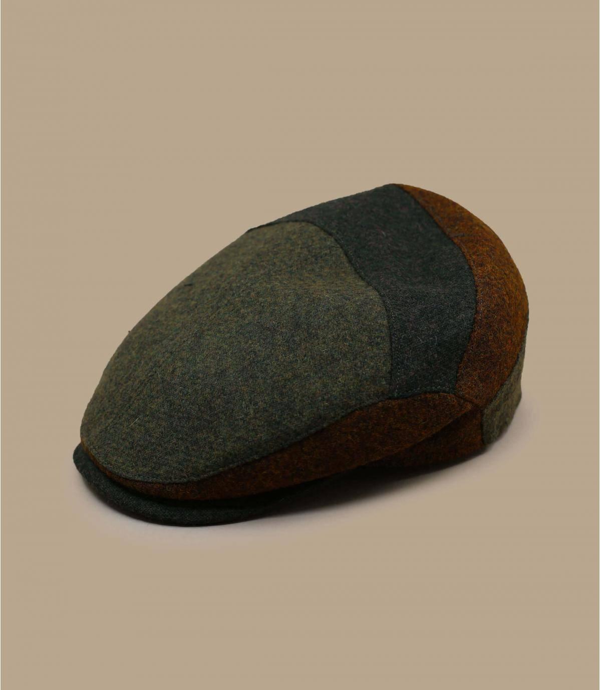 baret van veelkleurige wol