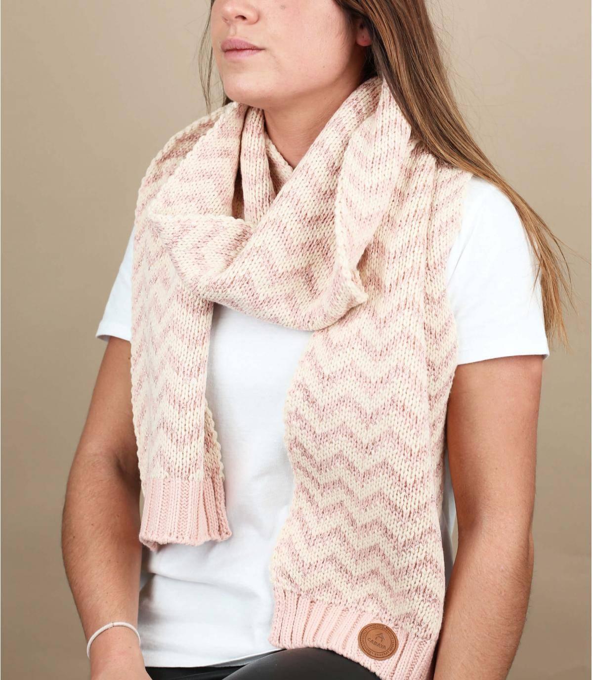 roze lurex sjaal