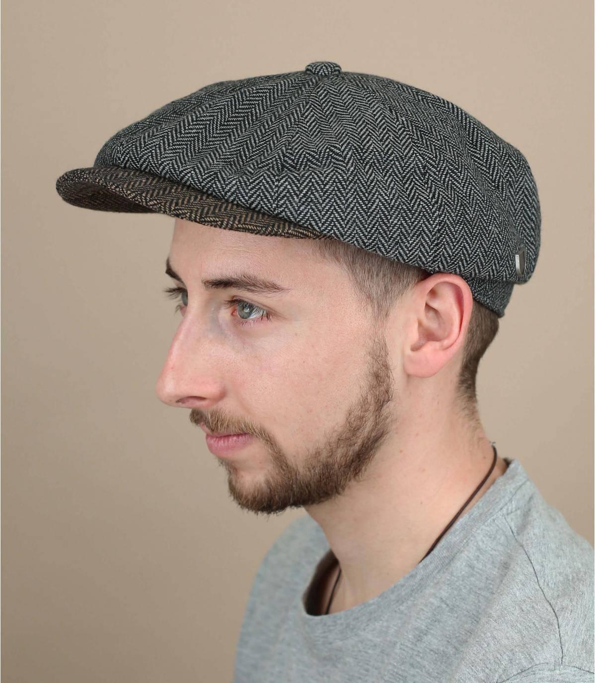 grijze gavroche baret