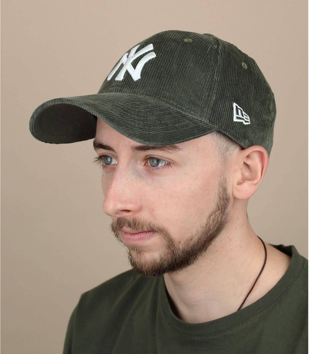 groen fluwelen cap