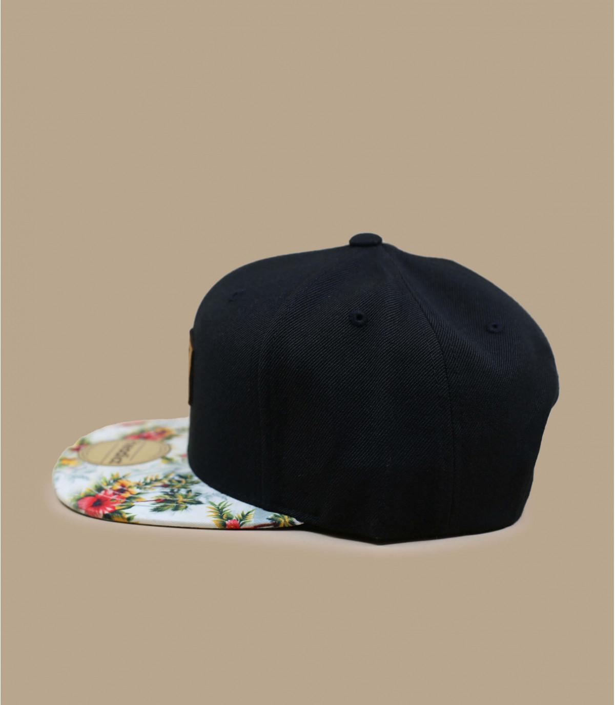 Details Snapback Let's Drive black floral - afbeeling 3