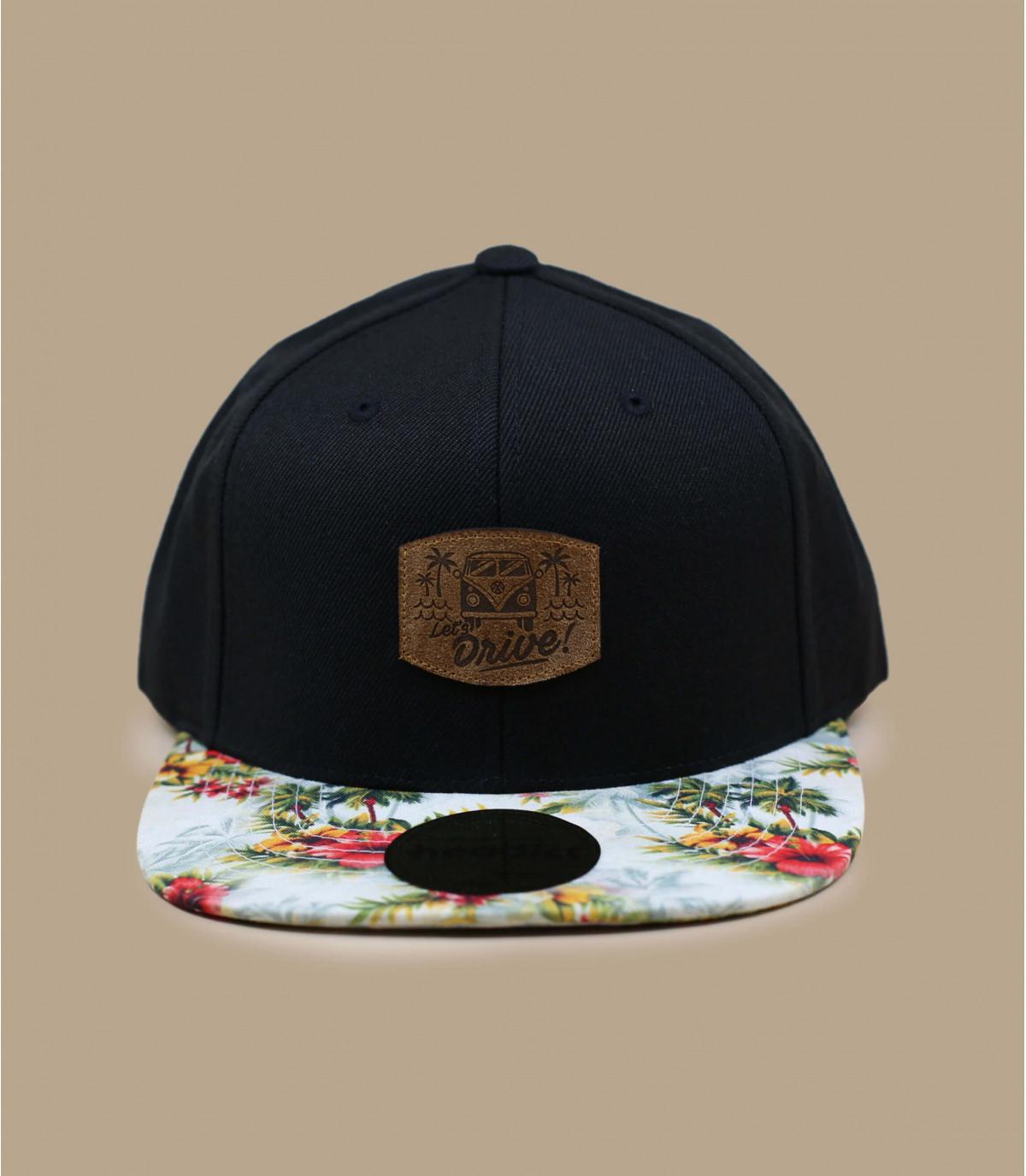 Details Snapback Let's Drive black floral - afbeeling 2