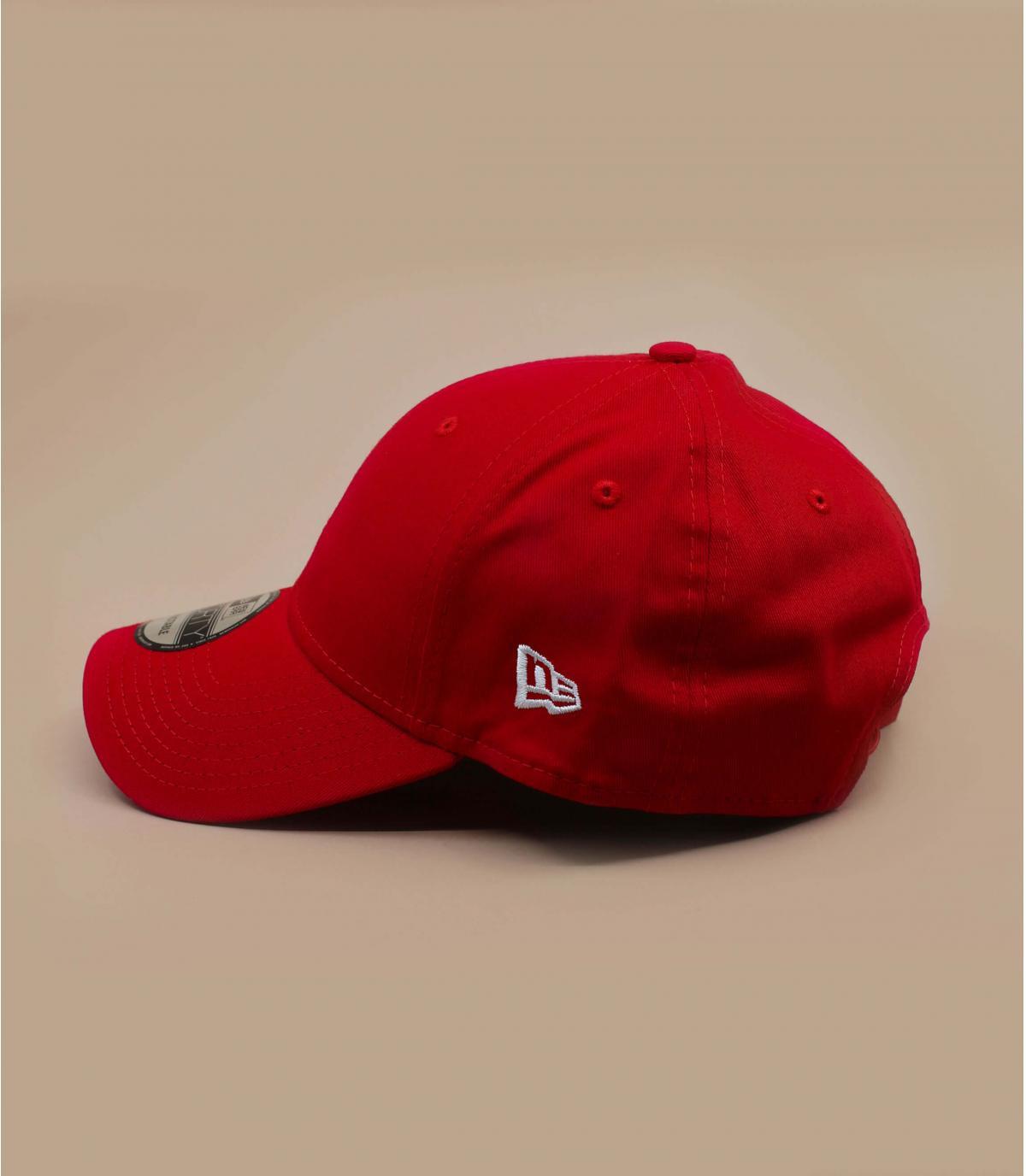 Details NE cap  basic red - afbeeling 5