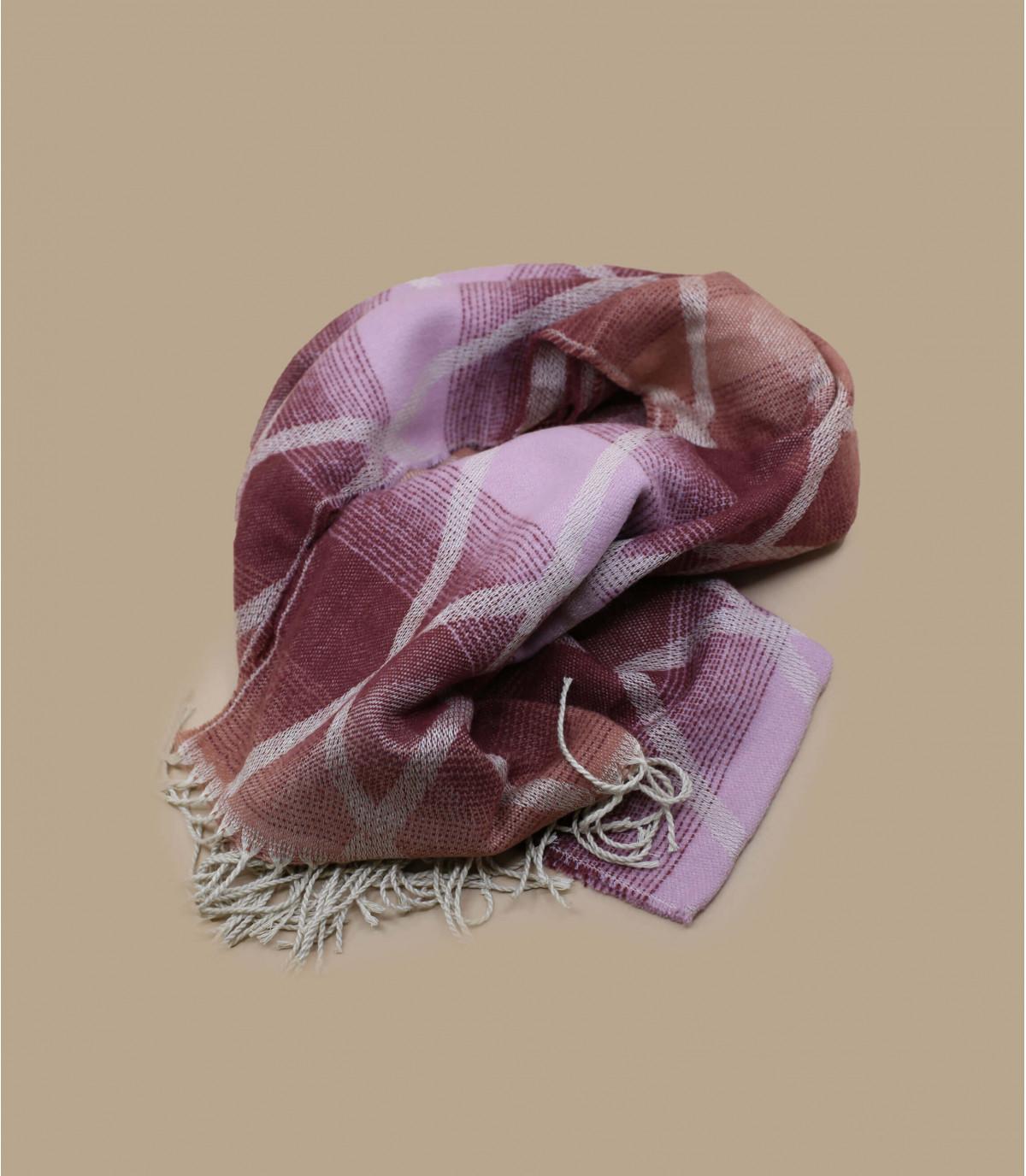 bordeauxrode sjaalrandjes