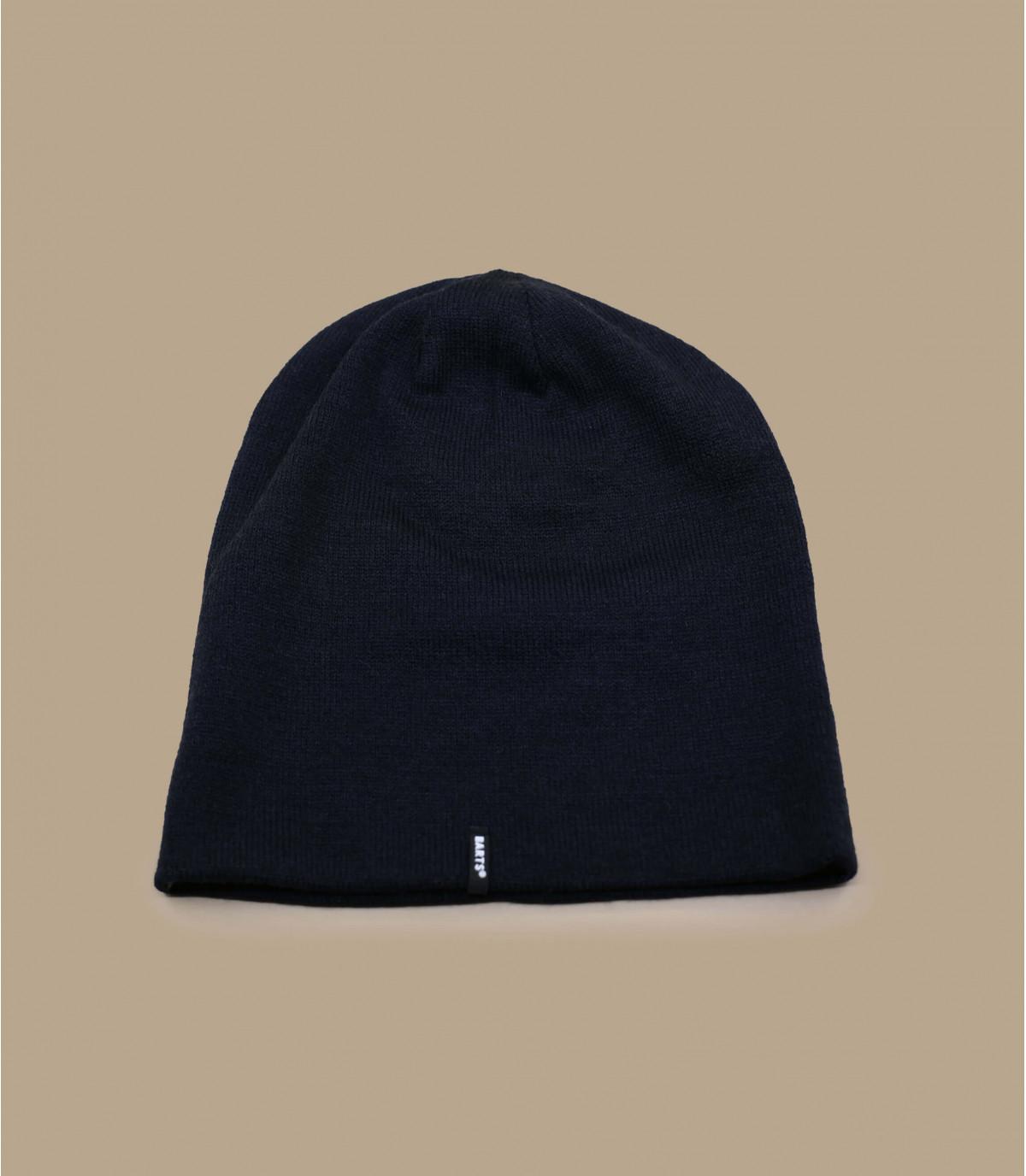 lange blauwe hoed