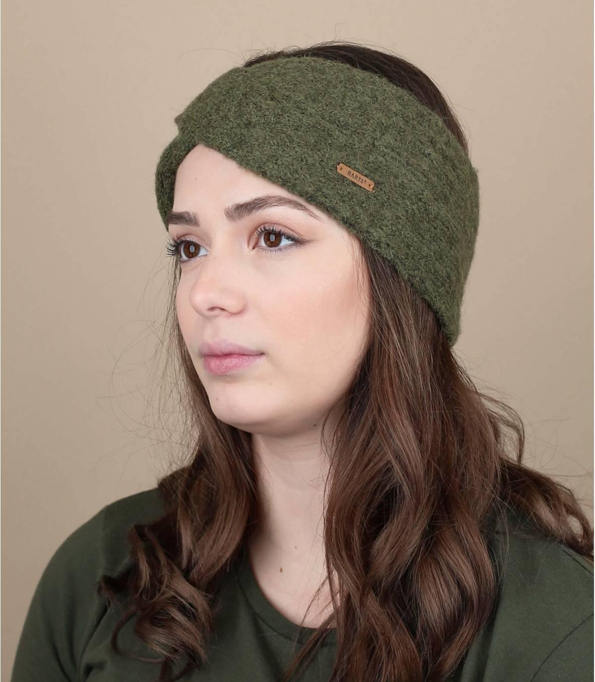 Groene gehaakte hoofdband