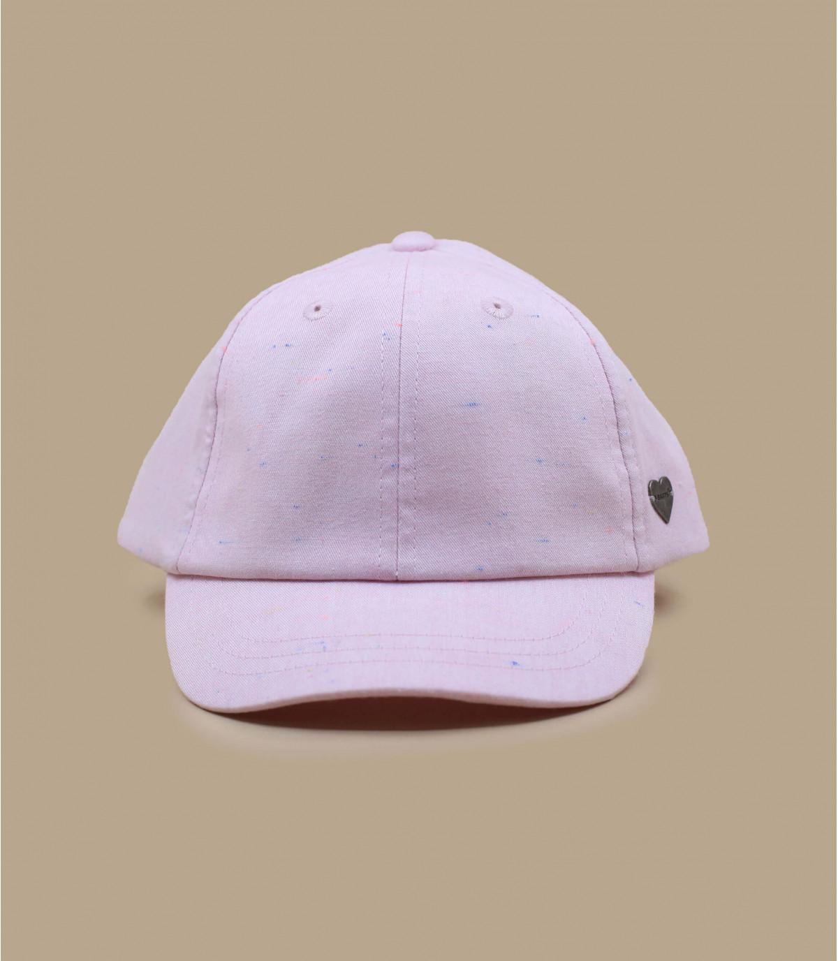 roze strik cap voor kinderen