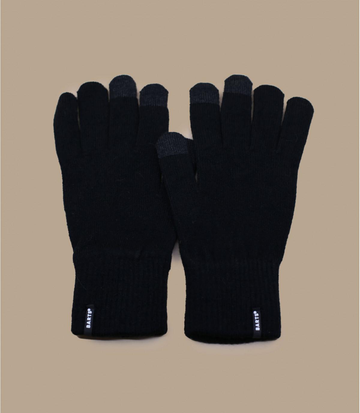 Zwarte smartphone handschoenen