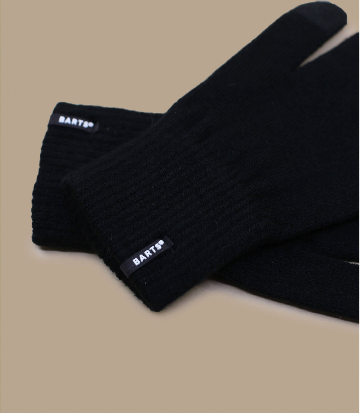 Details Fine knitted touch handschoenen zwart - afbeeling 2
