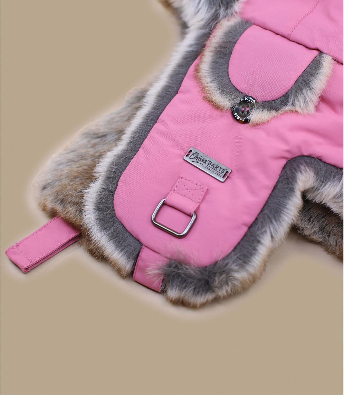 Kinder roze bontmuts