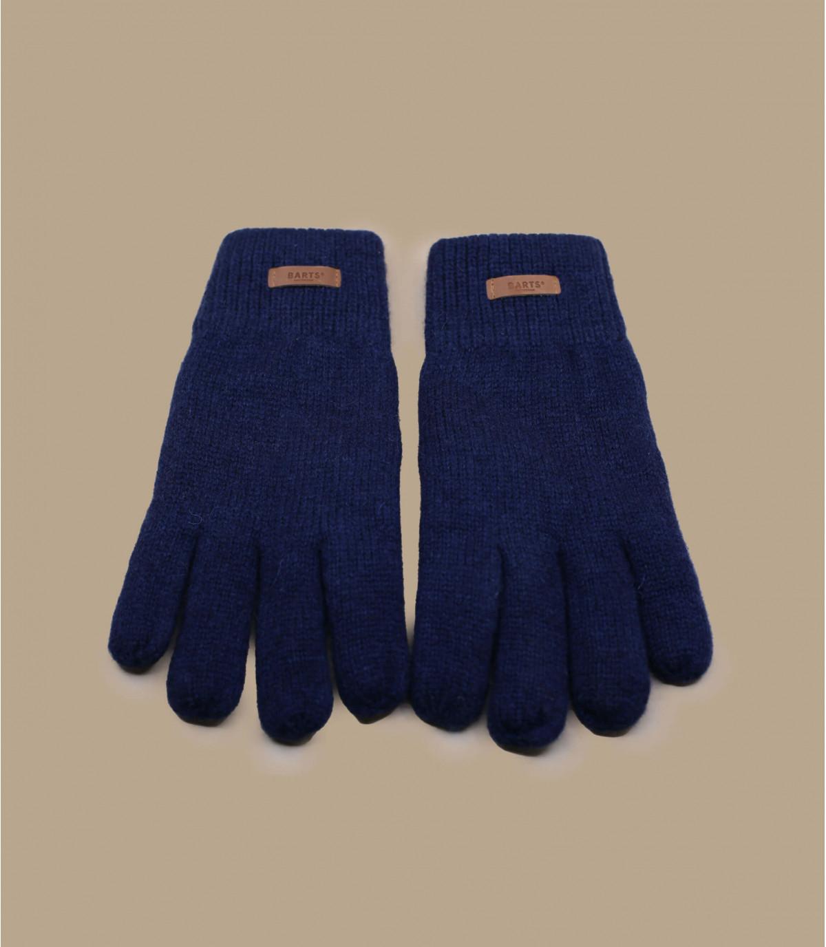Navy wollen handschoenen