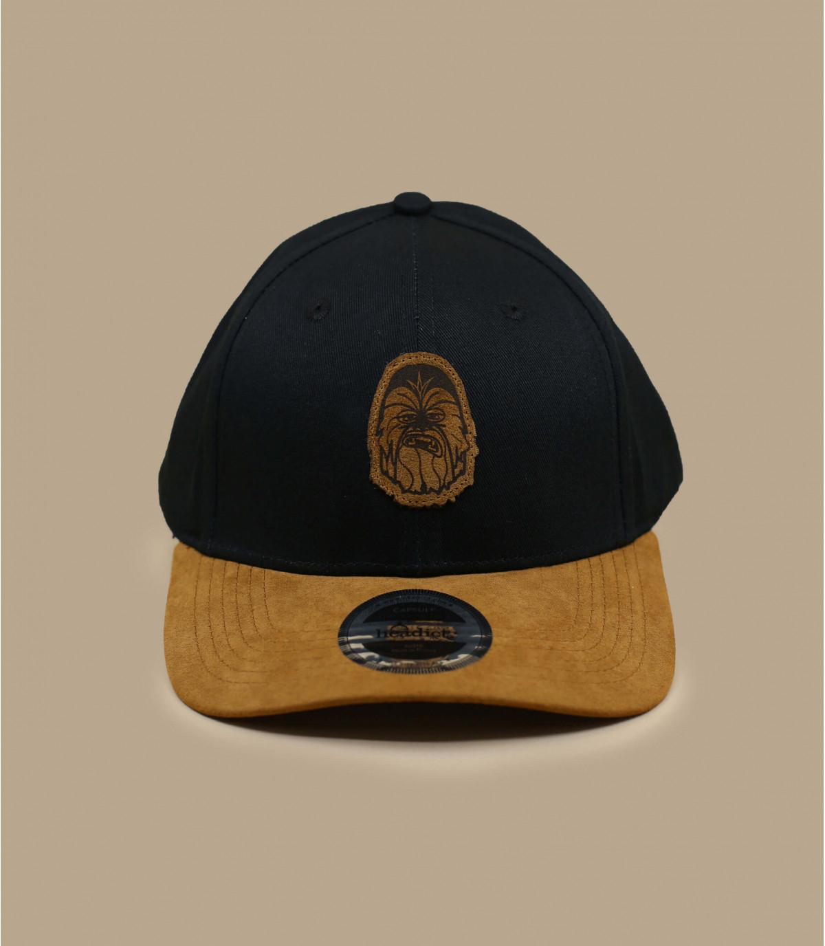 Chewie zwart suède cap