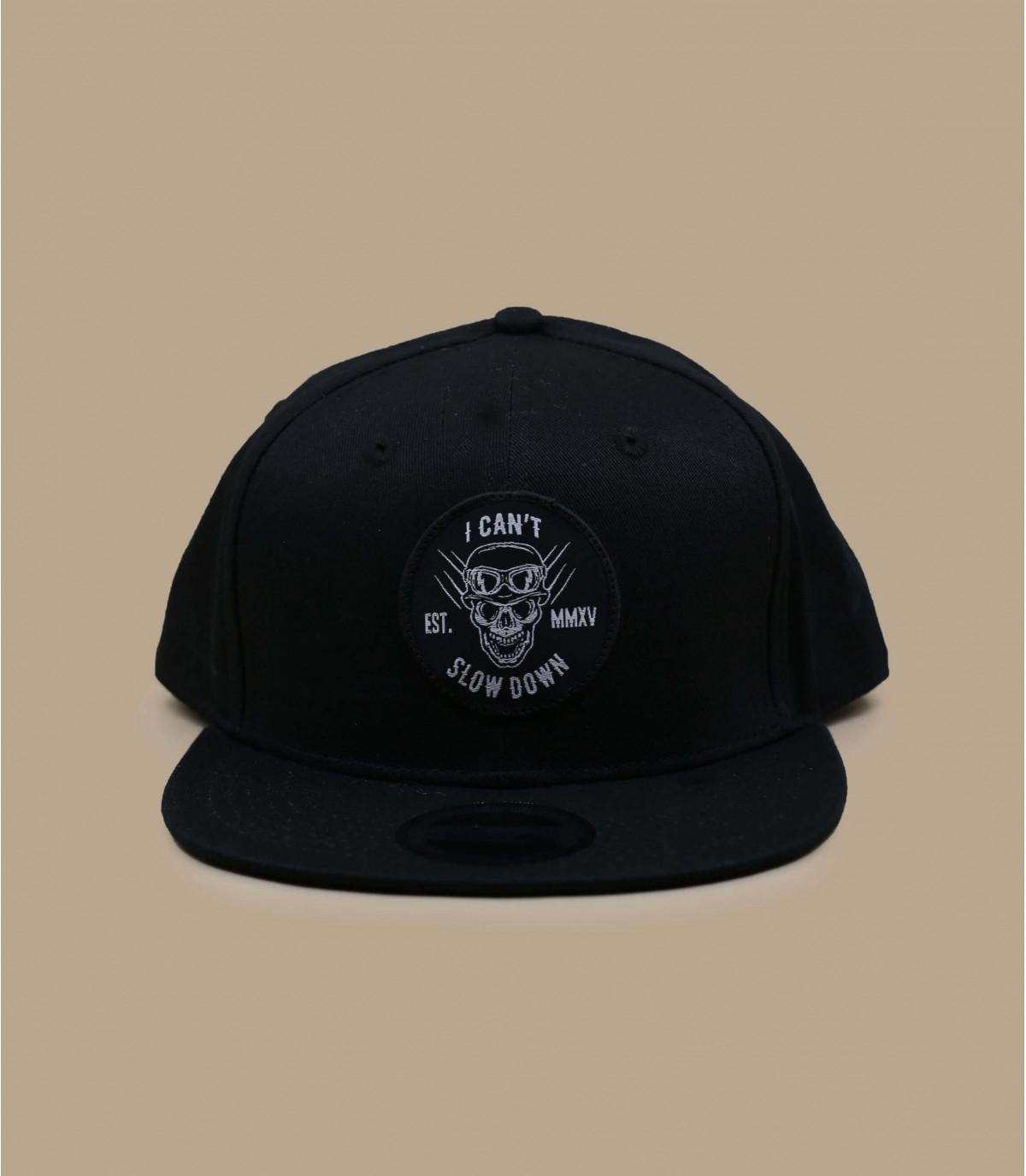 zwarte biker skelet snapback
