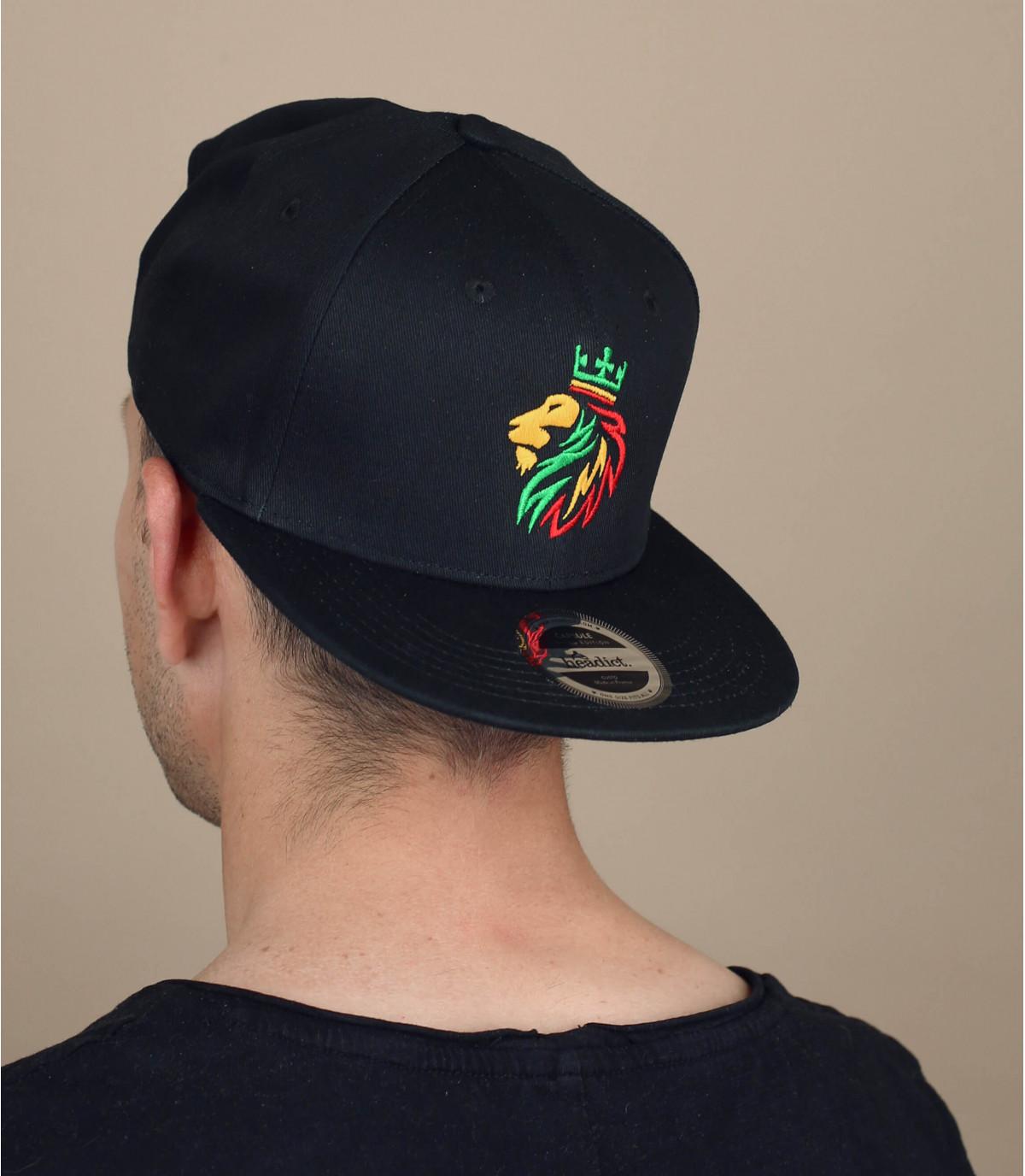 zwarte rasta snapback
